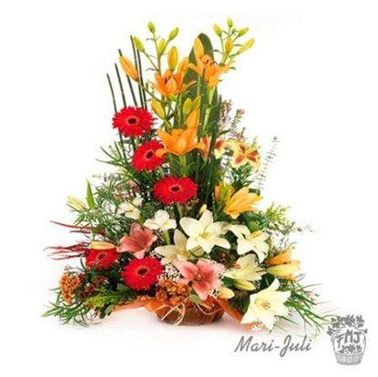 Ref.FMJ1005.Centro flor variada Surtida.
