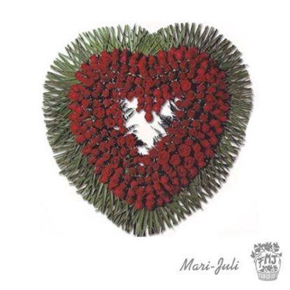 Ref.FMJ0088.Corazón Funerario en tonos rojos .
