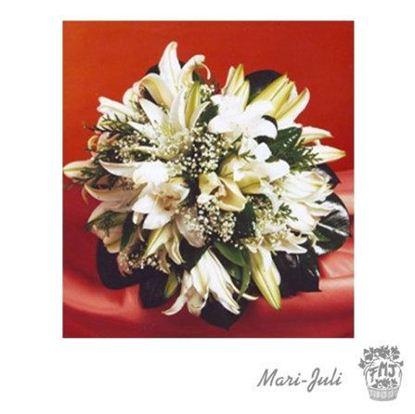 Ref.FMJ0055.Ramo de Novia Bouquet en tonos verdes y blancos
