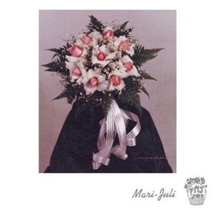 Ref.FMJ0057.Ramo de Novia Bouquet en tonos blancos y rosados.