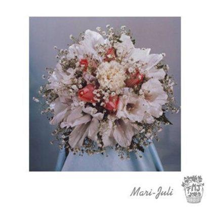 Ref.FMJ0061.Ramo de Novia Bouquet en tonos rojos y blancos