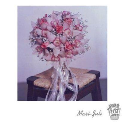 Ref.FMJ0064.Ramo de Novia Bouquet en tonos rosas y rosados .