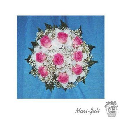 Ref.FMJ0067.Ramo de Novia Bouquet en tonos blancos y rosas.