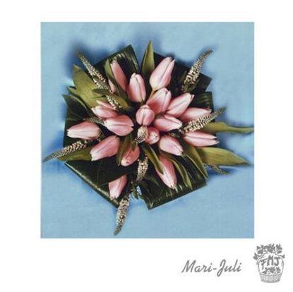 Ref.FMJ0069.Ramo de Novia Bouquet en tonos verdes y rosados .