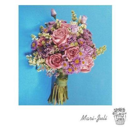 Ref.FMJ0070.Ramo de Novia Bouquet en variedad de tonos morados y rosados.
