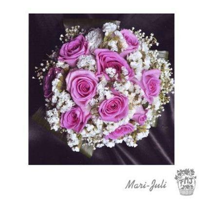 Ref.FMJ0072.Ramo de Novia Bouquet en tonos blancos y rosas .