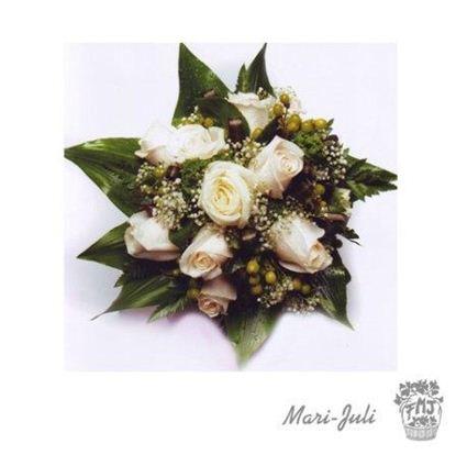 Ref.FMJ0073.Ramo de Novia Bouquet en tonos verdes y blancos