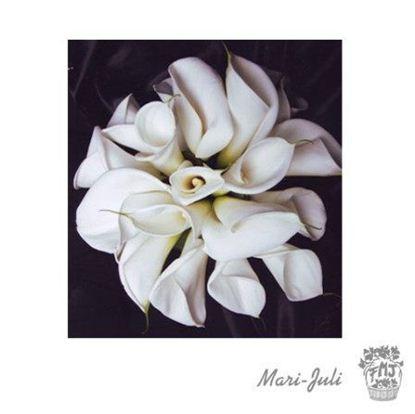 Ref.FMJ0053.Ramo de Novia Calas en tonos blancos.