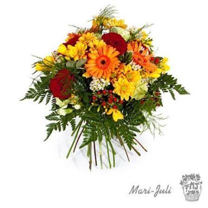 Ref.FMJ0003.Ramo de Flores Primaverales formal redondo con Lilium.