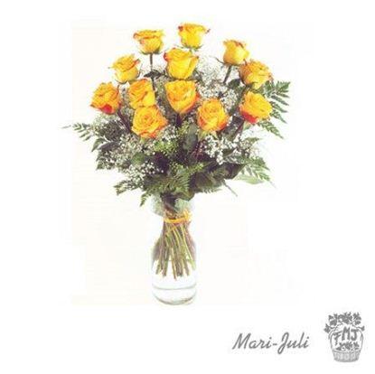 Ref.R0016.12 Rosas amarillas de tallo largo.
