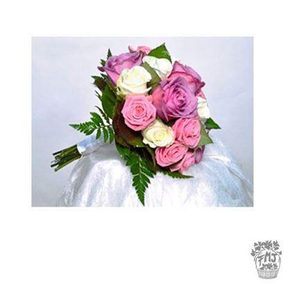 Ref.FMJ0110.Ramo de Novia Bouquet en tonos rosas y rosados .