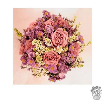 Ref.FMJ0114.Ramo de Novia Bouquet en tonos rosas y rosados .