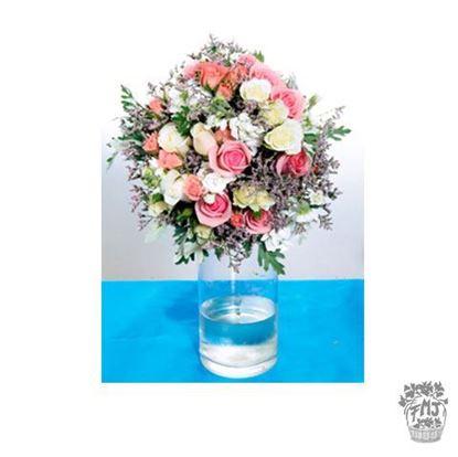 Ref.FMJ0117.Ramo de Novia Bouquet en tonos rosas y rosados .